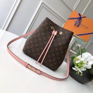 LV Neonoe Monogram Rose Poudre Bag